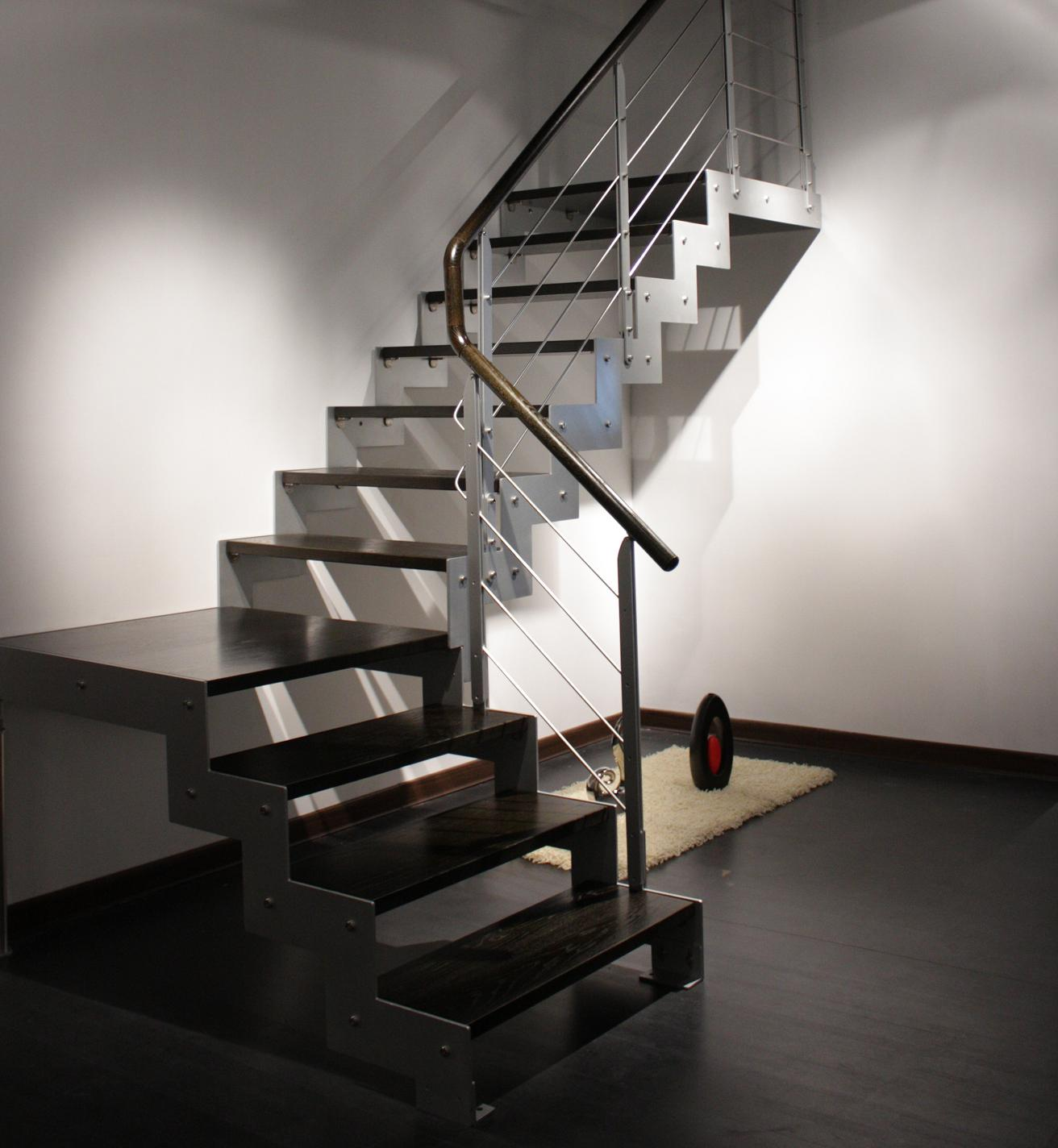 Double Stringers Staircase