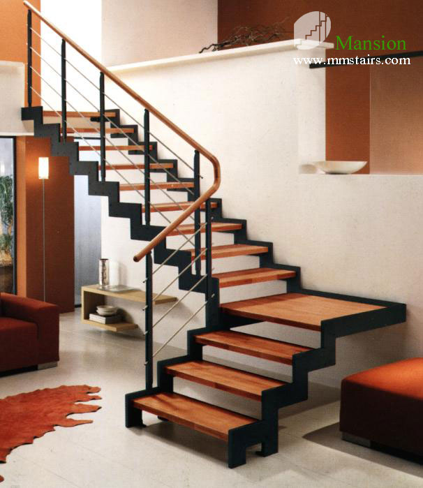 L50 l series mansion stairs for Prefab staircase