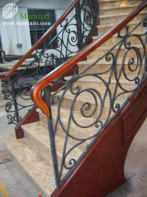N25 n series mansion stairs for Pre made spiral staircase